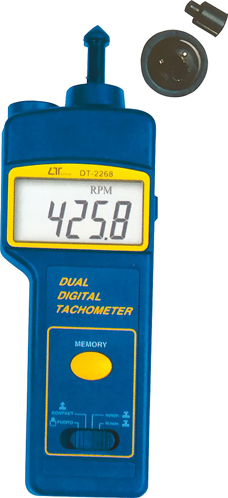 LUTRON DT-2268 Photo//Contact Tachometer Revolution Meter Rotation Speed