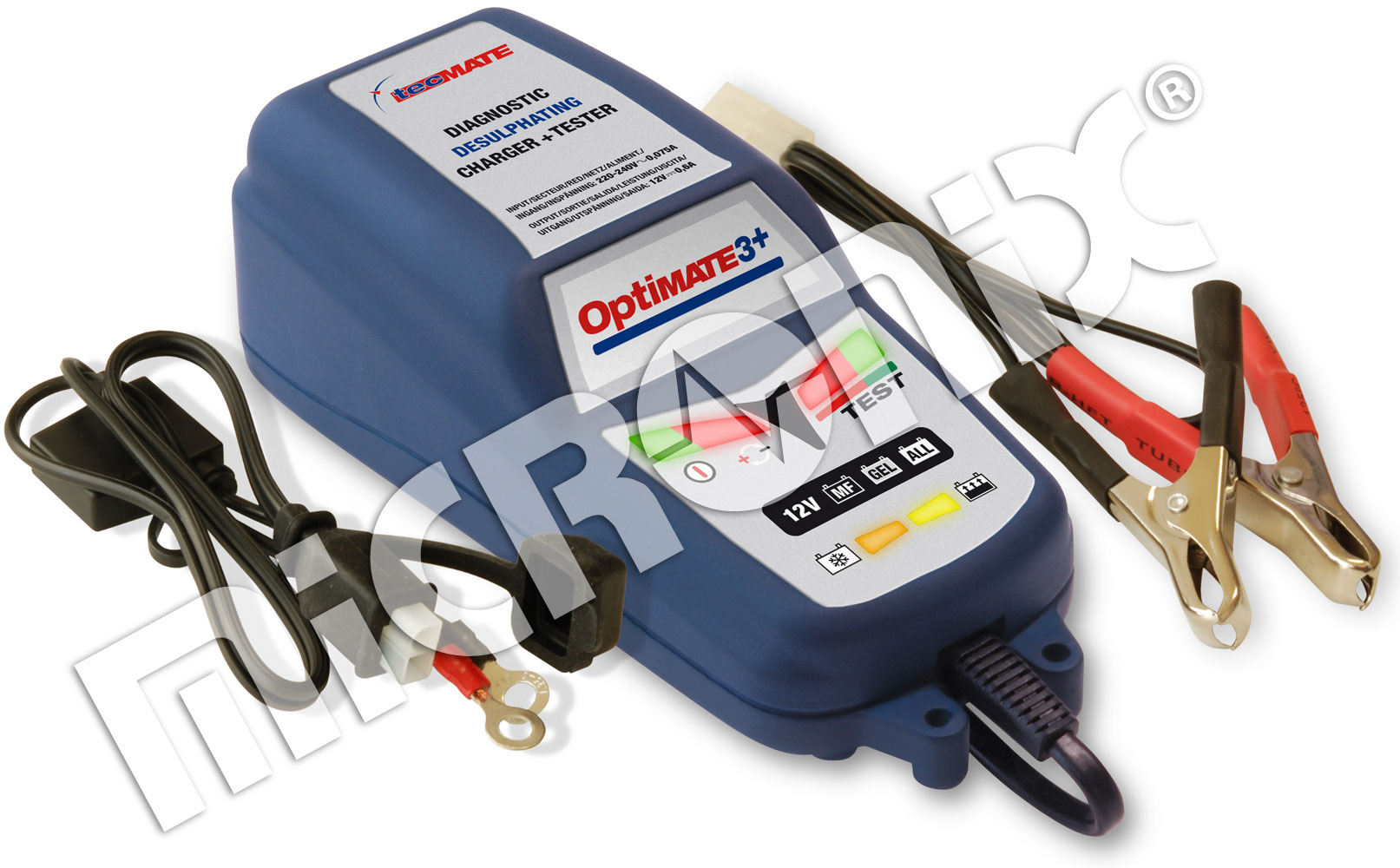 All 12V Batteries New Battery Lead Included Optimate LED O-123 Low Battery Warning Flasher