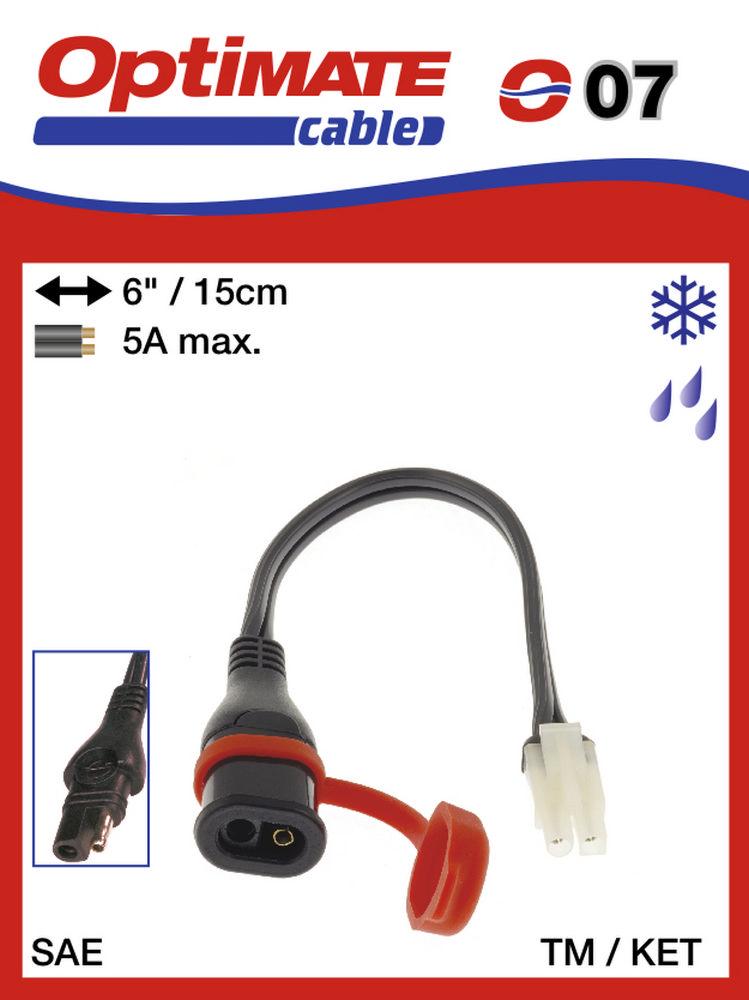 Optimate Om O07 SAE77 Adaptateur C/âble de Batterie KET en SAE